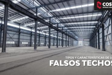 TIPOS DE FALSO TECHO MÁS HABITUALES Y CARACTERÍSTICAS